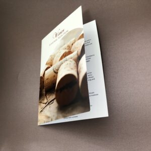 menu leaflet