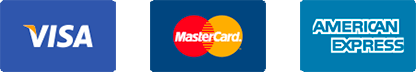 Vias Mastercard American Express (AMEX) all accepted